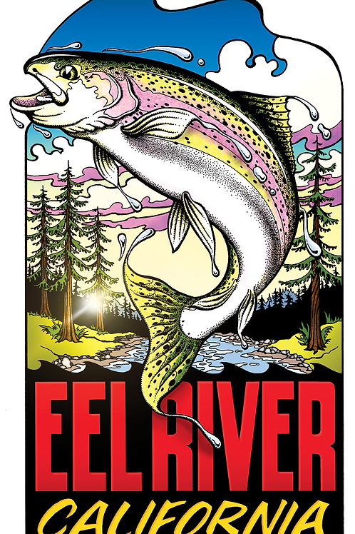 Full Color Eel River Steelhead Poster