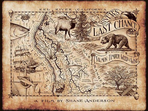 A River's Last Chance Map Poster