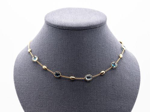 Halskette mit Blautopas