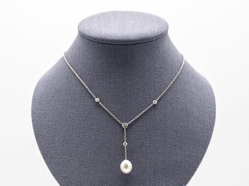Halskette mit Perle und Brillanten