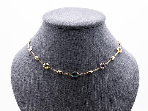 Halskette mit multicolor Farbsteinen
