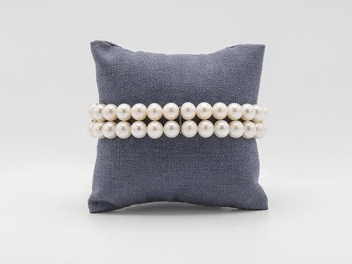 """Armband """"AMAZING"""" mit echten Perlen"""