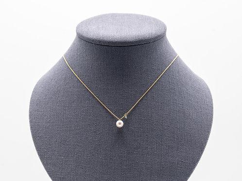 """Halskette """"BELLE"""" mit Perle und Brillant"""