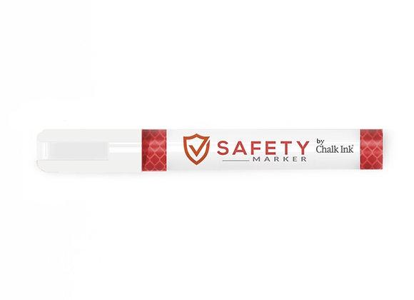 2mm Bullet Tip Fluorescent White Safety Marker