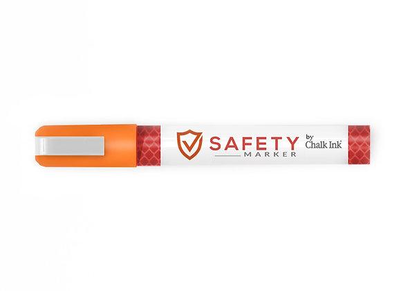 2mm Bullet Tip Fluorescent Caution Orange Safety Marker