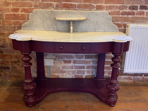 Victorian Washstand finished in Brinjal with Marble Top