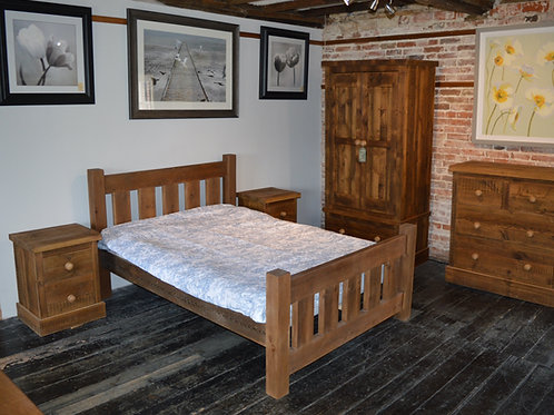 Reclaimed Pine Beds with Rustic Finish