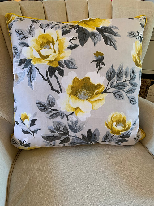 Furniture Cushion yellow followers and yellow piping