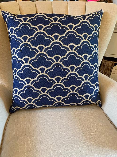 David Baxter Artist - Blue Patterned Cushion