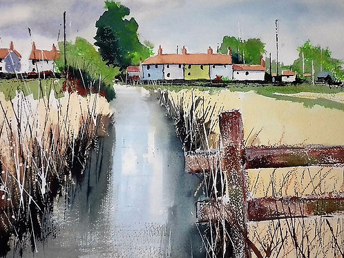 Towards Southwold Harbour - Watercolour