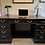 Black Pedestal Desk Front View