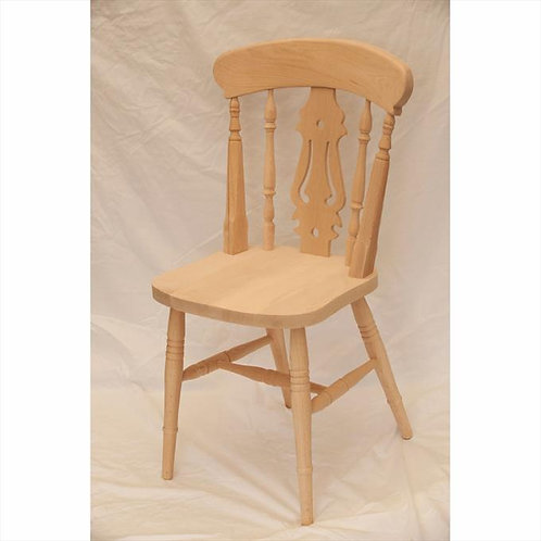 Fiddle back beech chair in natural finish