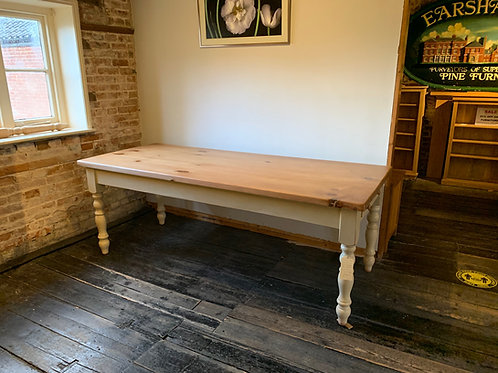 Large Farmhouse Table - side view