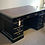 Black Pedestal Desk Side view