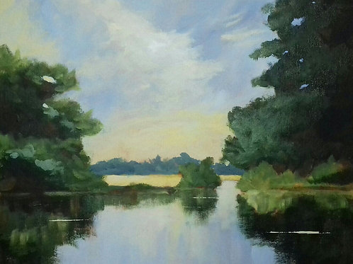 The Stour River - Acrylic
