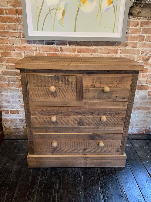 Reclaimed Pine Chest Drawers 2/1/1