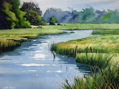 The Alde River - Watercolour