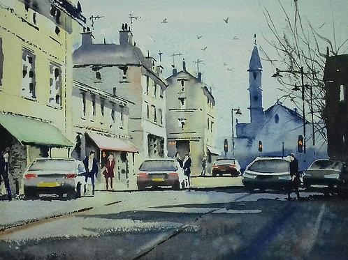 High Street, Newmarket - Watercolour