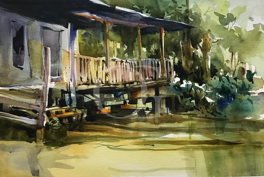 Shack on the swamp