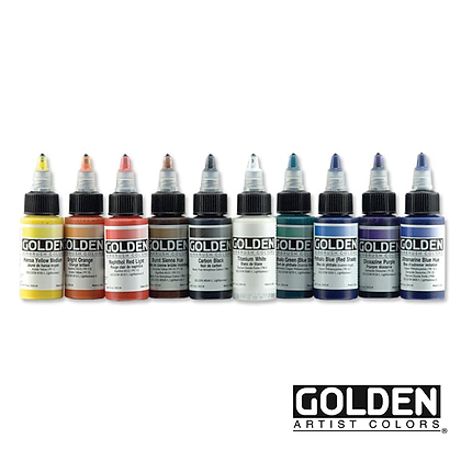 Professional Airbrush Acrylics 10-Colour Set