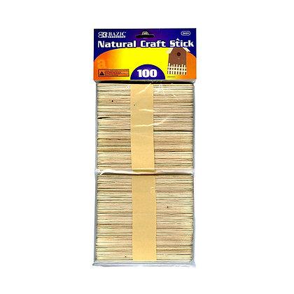 Natural Craft Sticks 100pc