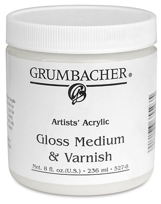 Gloss Acrylic Medium & Varnish (8 oz.)