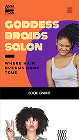 Móda a krása website templates – Hair Braids Salon