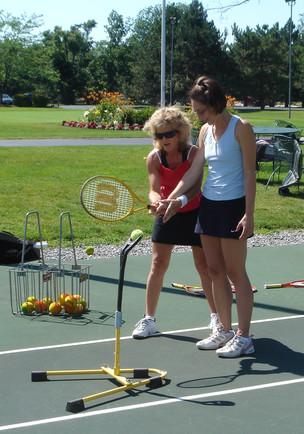 Pam Coaching Michelle Shinning Stars.JPG
