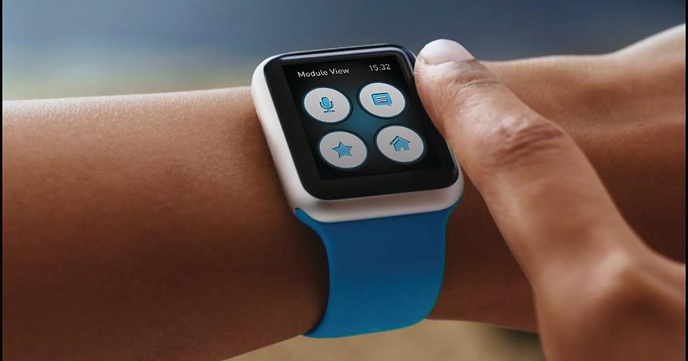Controle pelo Apple Watch