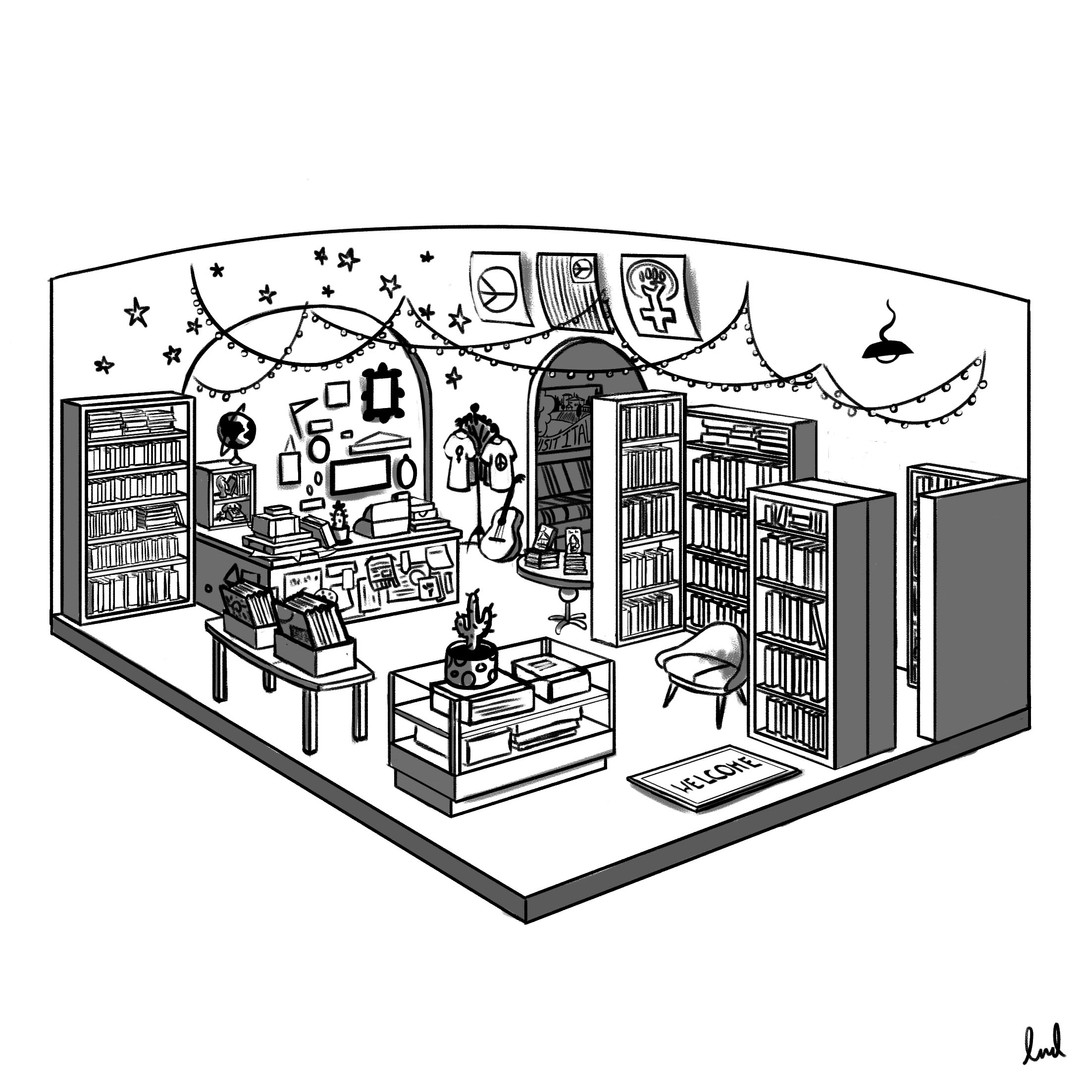 Bookstore Cutout