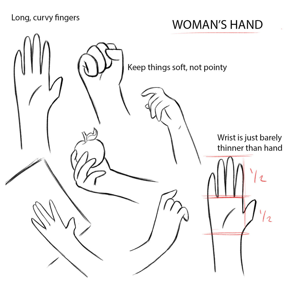 Woman Hand Notes