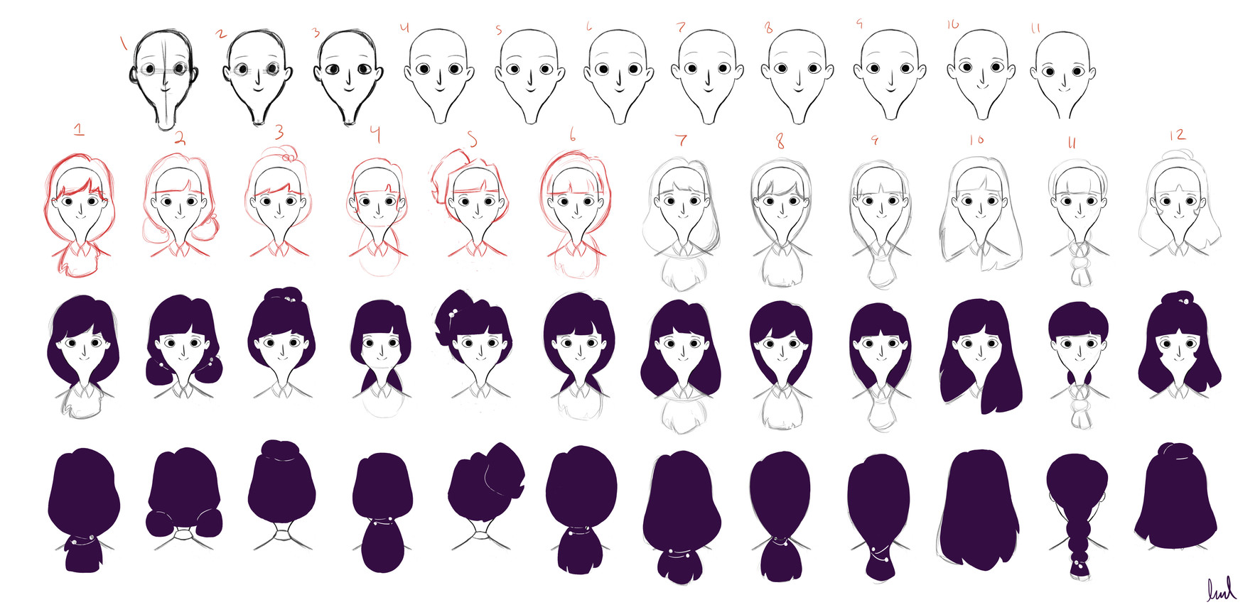 Woman Hair Tests