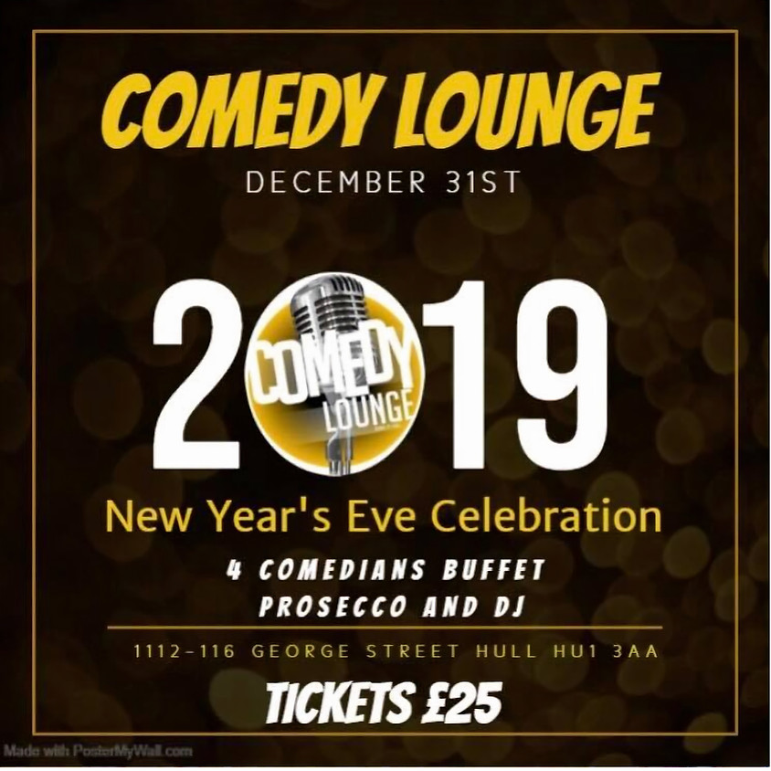 NEW YEARS EVE AT THE COMEDY LOUNGE