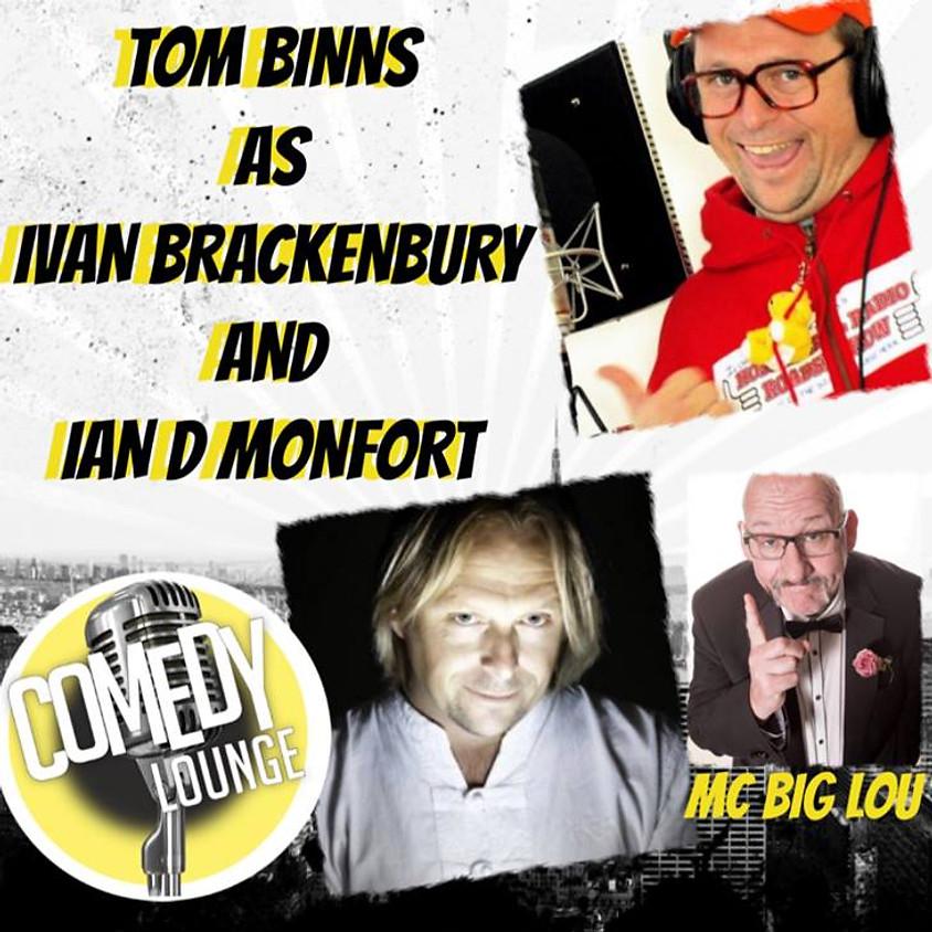 TOM BINNS AS IVAN BRACKENBURY HOSPTIAL RADIO DJ  & IAN D. MONTFORT PSYCHIC MEDIUM