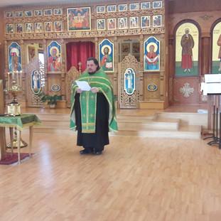 Молебен в Кафедральном соборе Святого Иннокентия