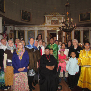 После литургии в храме Святого Михаила