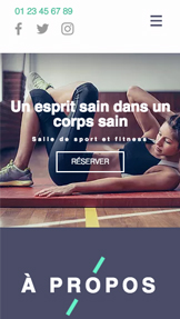 Sports et Loisirs website templates – Centre Fitness
