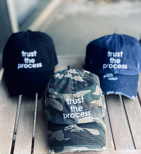 Trust The Process Distressed Dad Hat