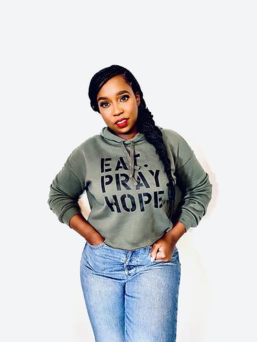 EAT. PRAY. HOPE.® BROKEN CROPPED SWEATSHIRT