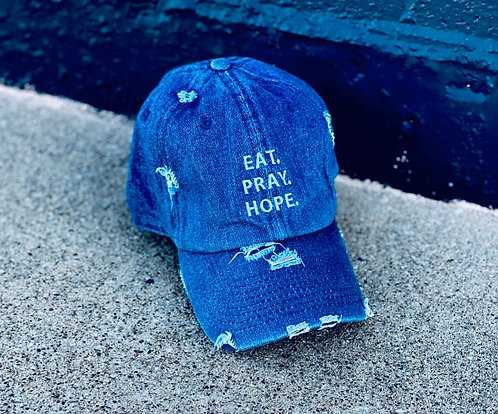 EAT. PRAY. HOPE.® Distressed Dad Hat - Stacked
