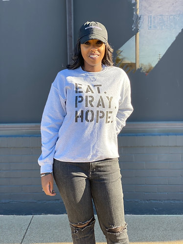 EAT. PRAY. HOPE.® BROKEN UNISEX CREWNECK SWEATSHIRT