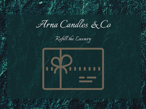 Gift Certificate Arna Candles
