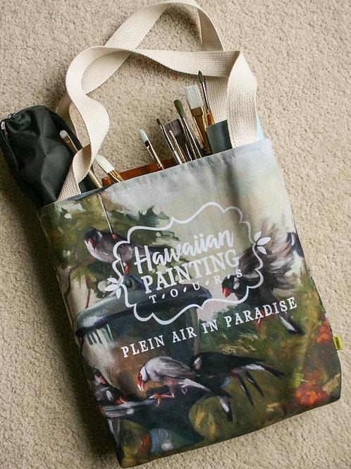 HPT Tote Bag: Java Sparrows Painting