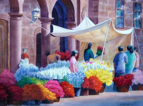 Patzcauro Flower Market