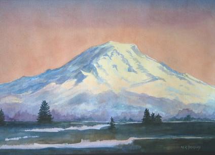 Mt. Rainier, Dusk