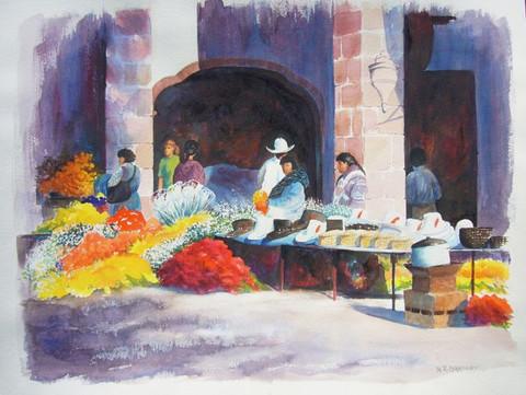 Patzcurao Flower Market