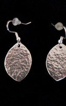 Tear Drop Dapple Hand Hammered Earrings