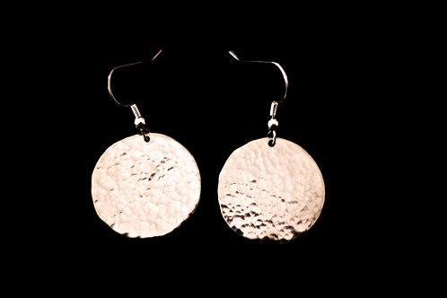 Dapple hand hammered earrings