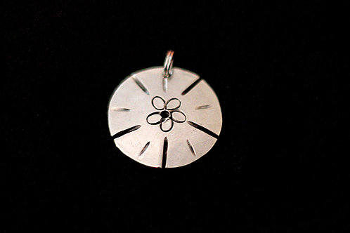 Hand Hammered Coin With Sand Dollar Design