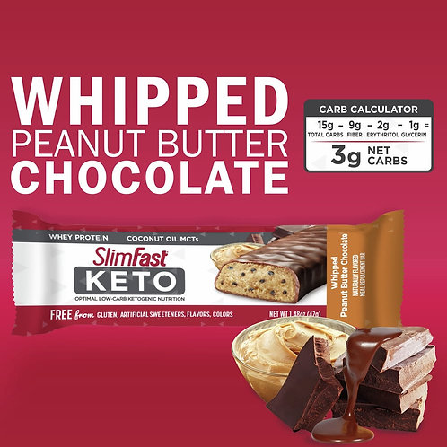Barra SlimFast KETO Peanut Butter